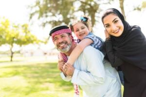 Happiness Saudi Family Portrait