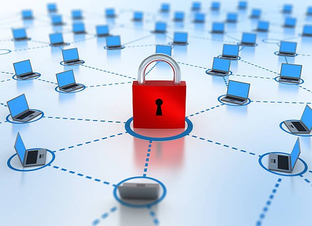 Internet Network Concept Security In Focus